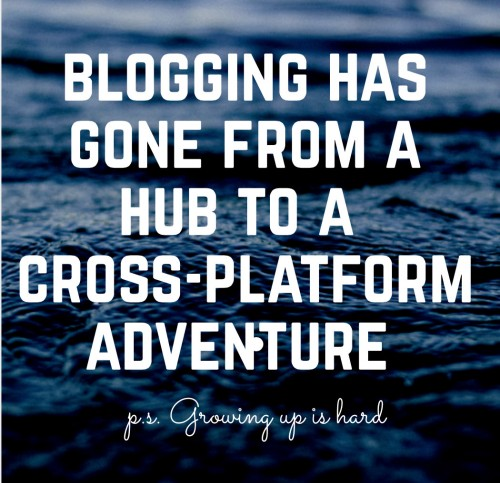 Blogging has gone from a hub