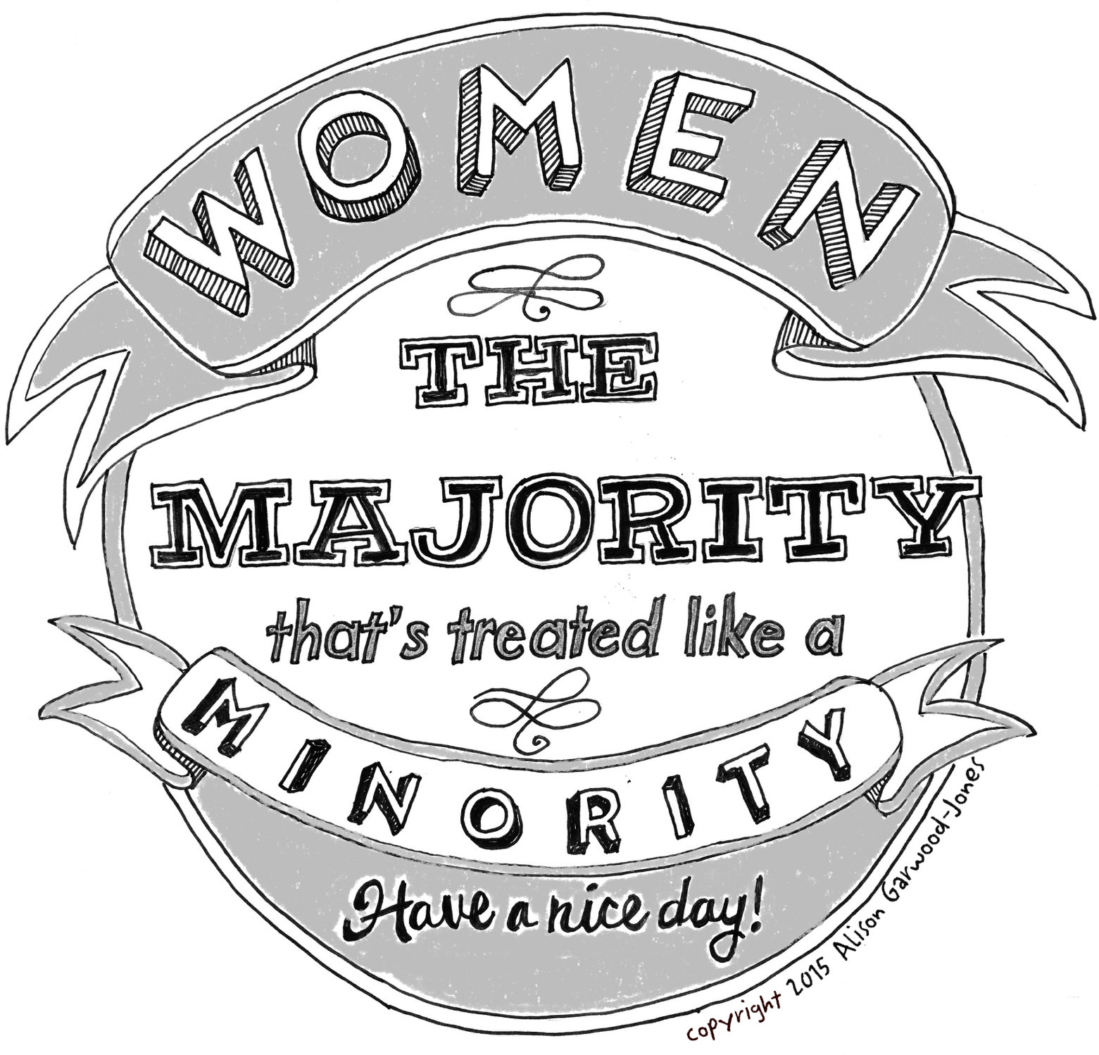 Homemade Crest - Women: The Majority that's treated like a Minority