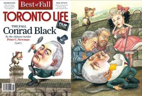 Conrad Black Toronto Life cover by Anita Kunz
