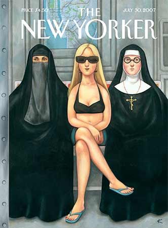 "New Yorker cover, ""Girls Will Be Girls,"" by Anita Kunz"