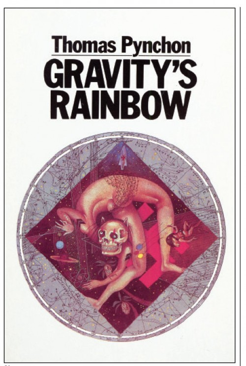 Gravity's Rainbow book cover by Thomas Pynchon. Art by Anita Kunz.