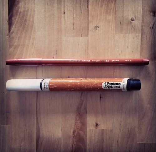 Two markers from the 1970s and '80s: A Pantone and a Buffalo Marker