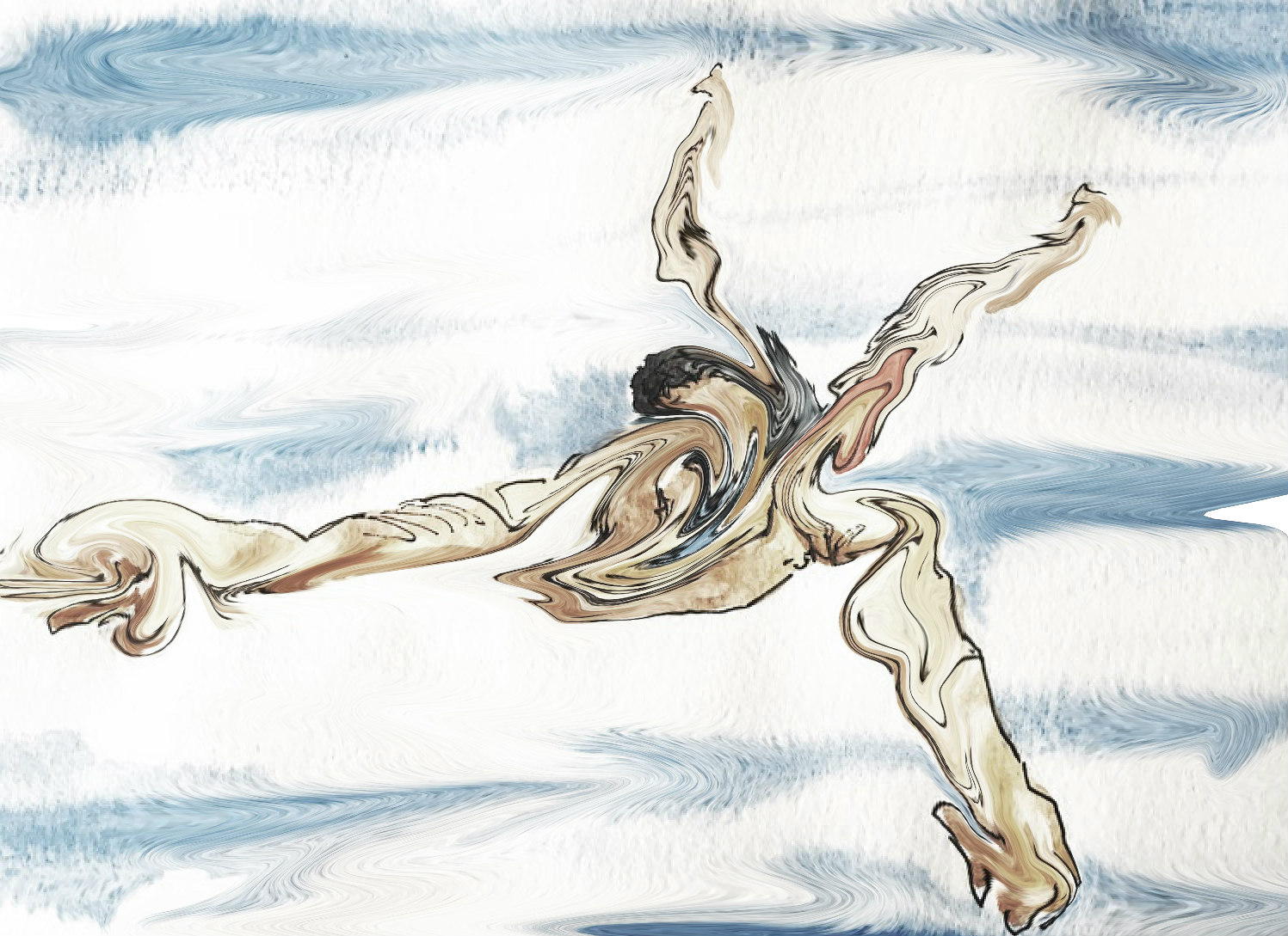 Man Swimming by Alison Garwood-Jones