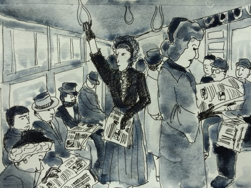 New York Subway, Illustration by Alison Garwood-Jones