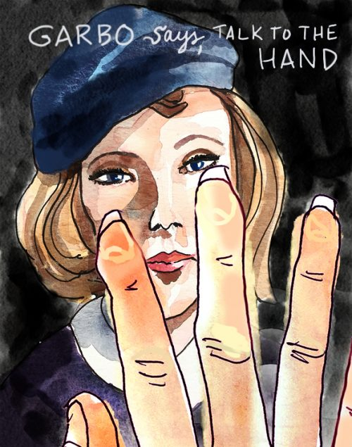 Greta Garbo sketch by Alison Garwood-Jones