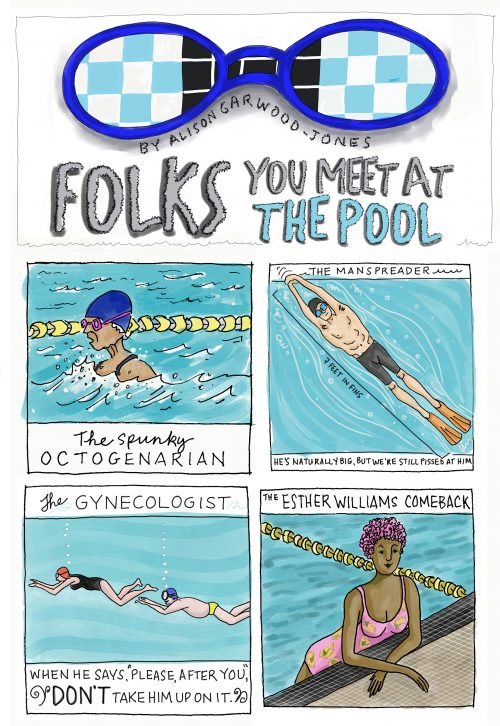Swimmer stereotypes by Alison Garwood-Jones