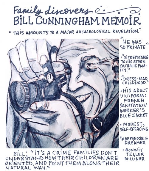 Bill Cunningham memoir discovered