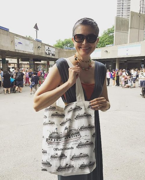 Toronto Island Tote Bag by PenJarProductions.com