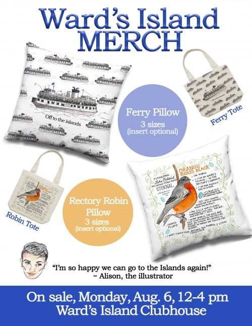 Toronto Island Totes and Throw Pillows by PenJarProductions.com