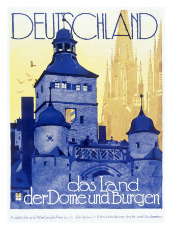 German Travel Poster