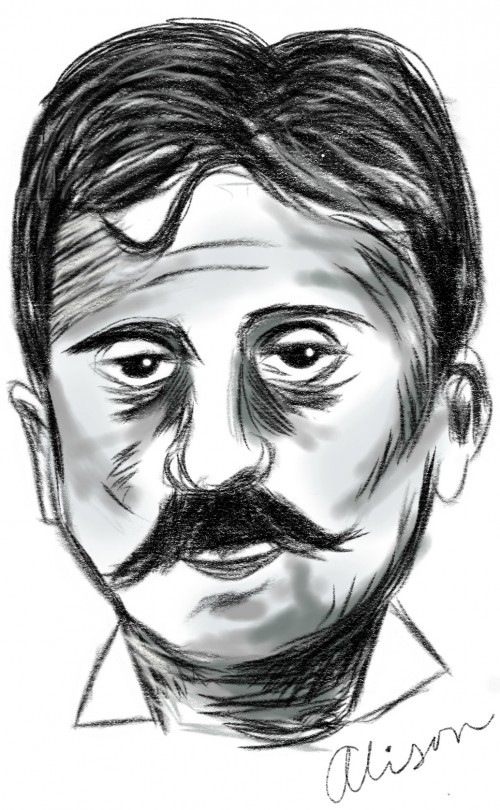 Drawing of Marcel Proust