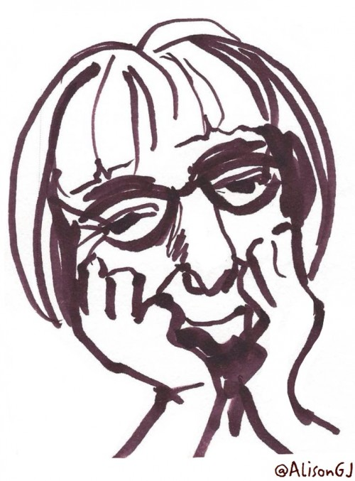 Drawing of Jane Jacobs