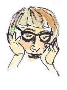 Drawing of Jane Jacobs by Alison Garwood-Jones