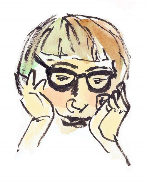 Drawing of Jane Jacobs by Alison Garwood-Jones