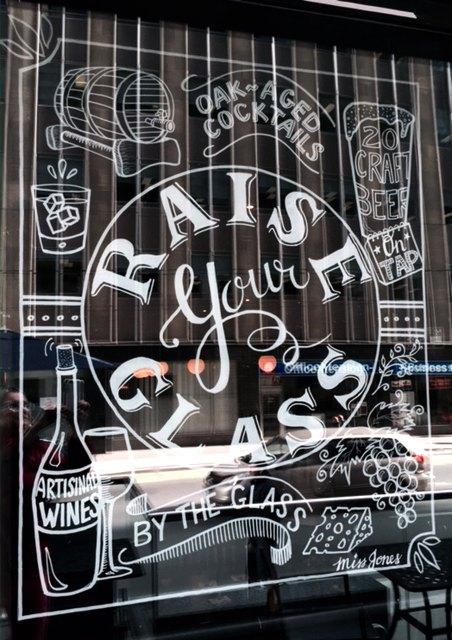 Window Art at The Merchant Tavern by Alison Garwood-Jones