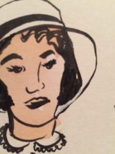 Watercolour and Pentel Brush Pen drawing