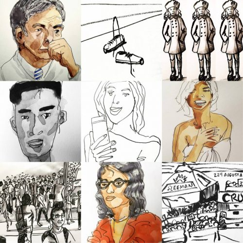 Collage of drawings by Alison Garwood-Jones