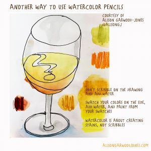 Tips on how to use watercolour pencils