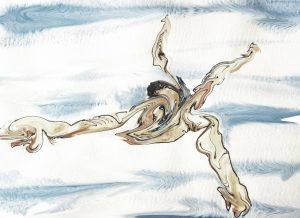 Man Swimming by Alison Garwood-Jones