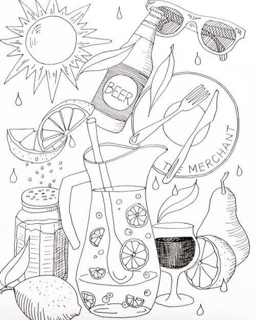 Summer Lovin' Wallpaper design by Alison Garwood-Jones