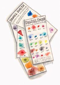 Daniel Smith Swatch Cards