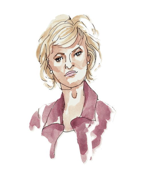 Tina Brown, illustration by Alison Garwood-Jones