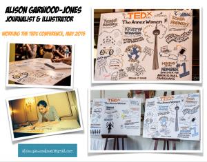 Alison Garwood-Jones drawing at TEDx