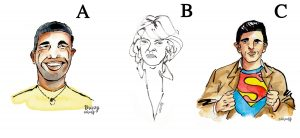Illustrated portrait options by Alison Garwood-Jones