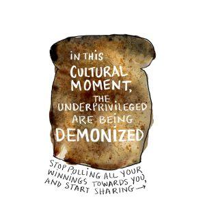 Demonizing the Poor illustration by Alison Garwood-Jones