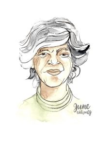 June Callwood illustration by Alison Garwood-Jones