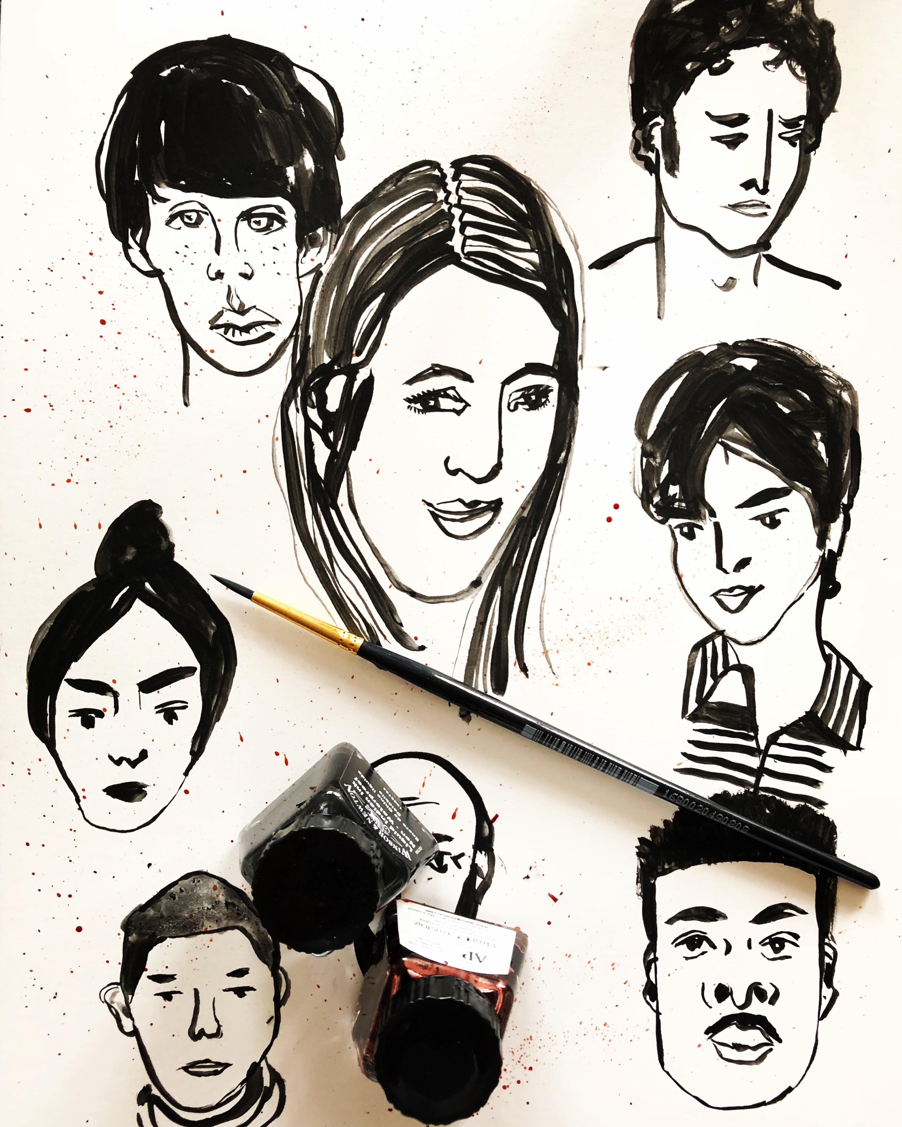 Ink sketch by Alison Garwood-Jones