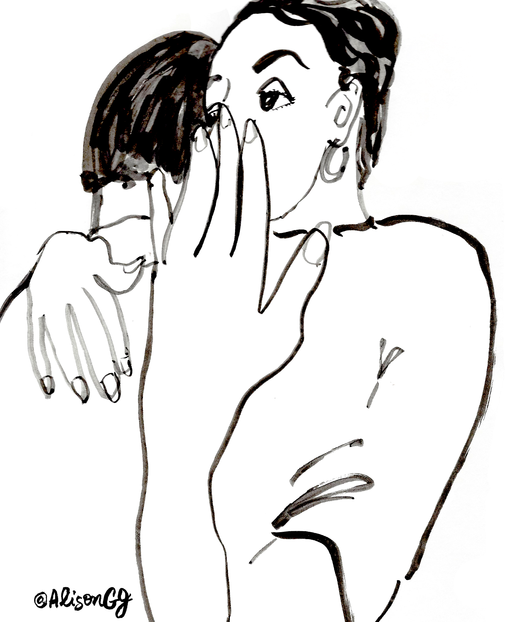 Shock, illustration by Alison Garwood-Jones