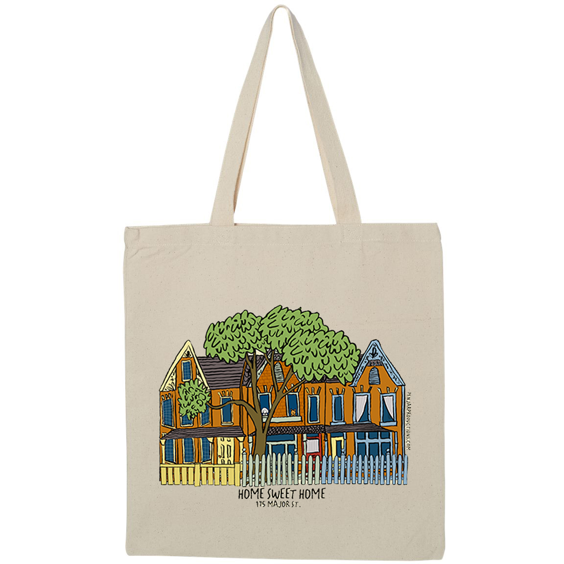 Your home on a tote, custom tote bag by Alison Garwood-Jones