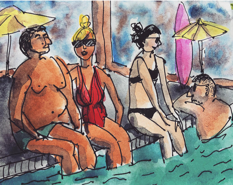 Pool People Illustration by Alison Garwood-Jones