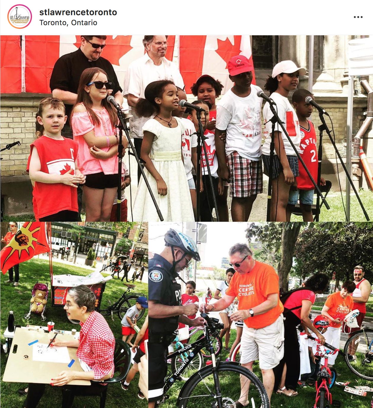Toronto Illustrator Alison Garwood-Jones at St. Lawrence Neighbourhood Canada Day