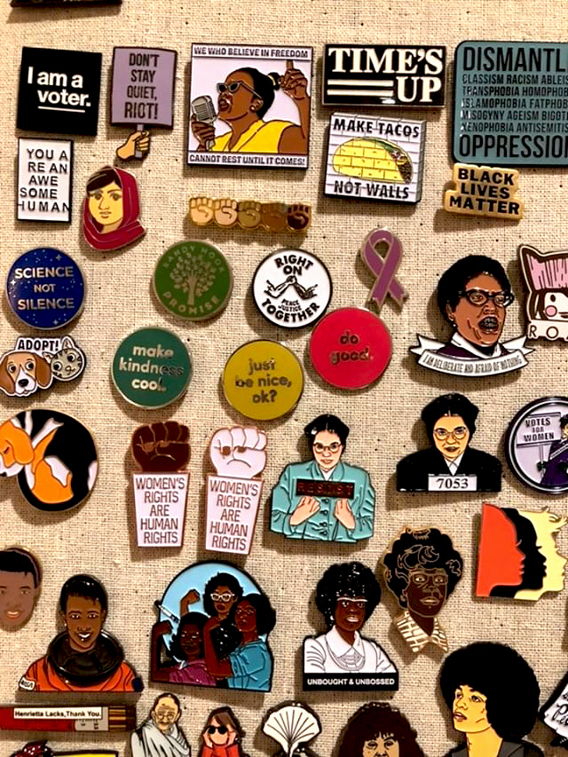 Fernanda van der Laan's Enamel Pin Collection