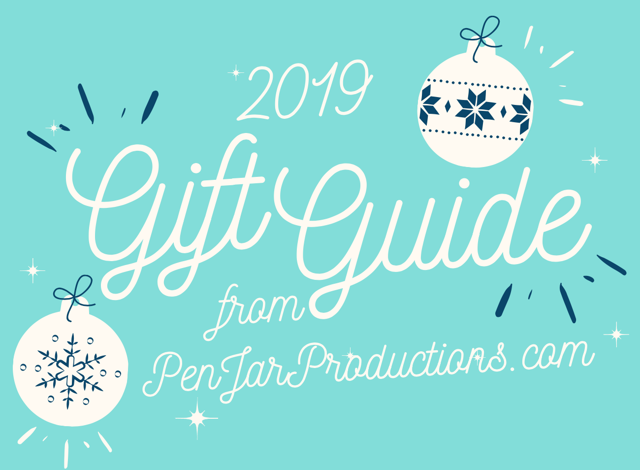 2019 GIft Guide Announcement for PenJarProductions.com