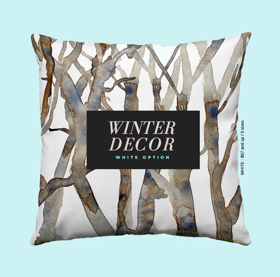 Spring Branches Pillow by PenjarProductions