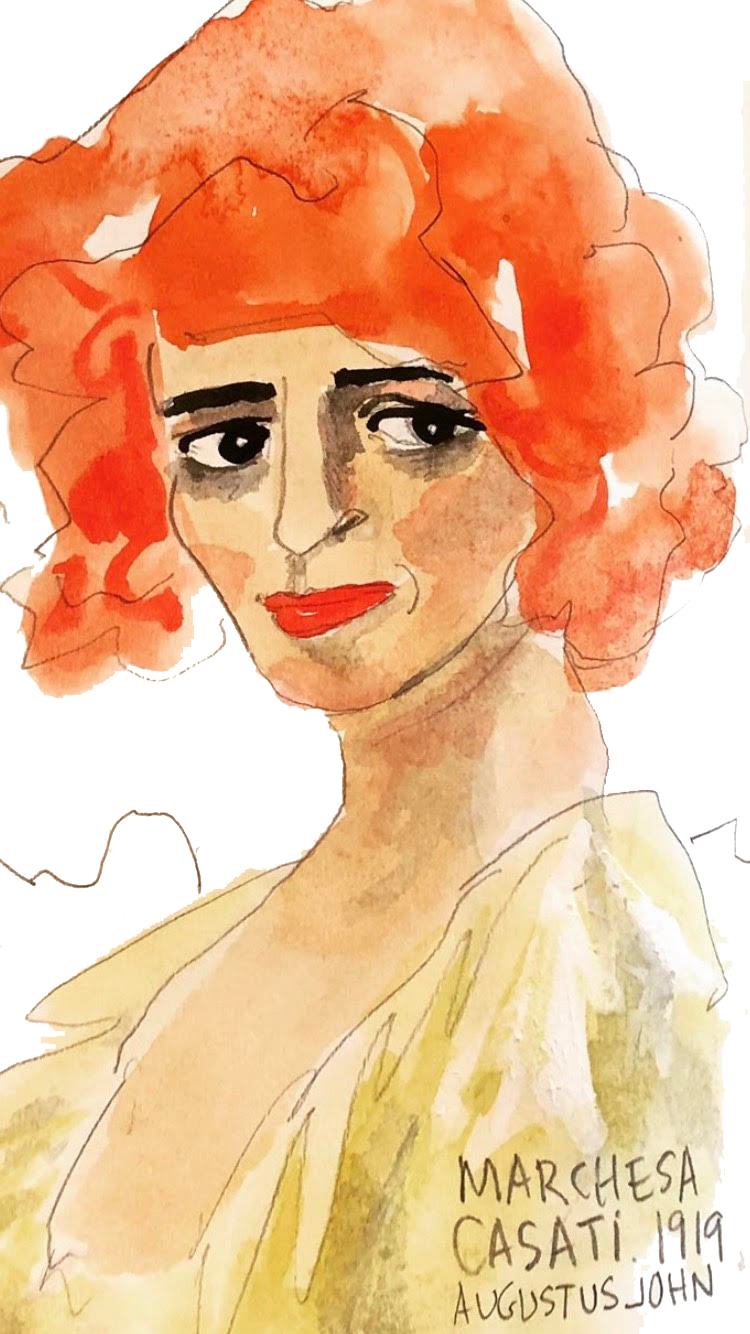 The Marchesa Casati, AGO - Illustration by Alison Garwood-Jones