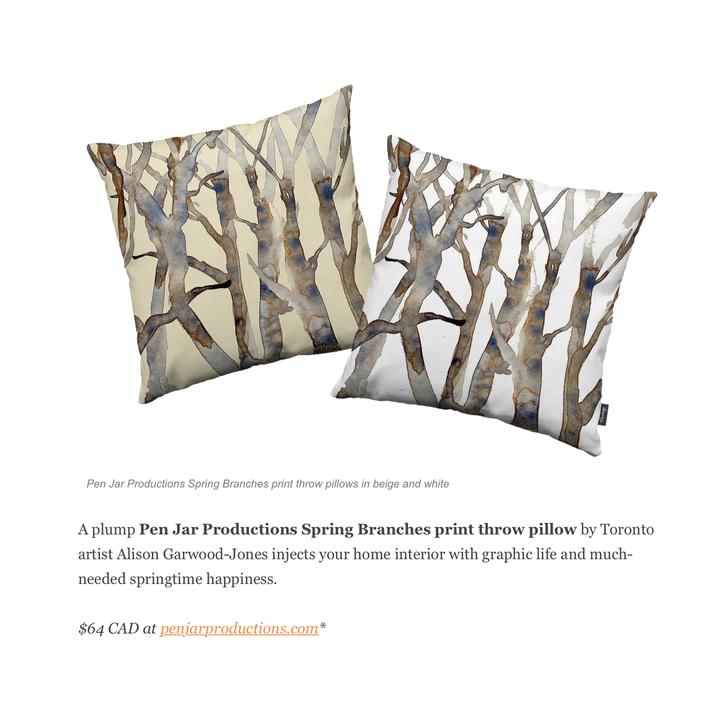 Beauty Geeks Valentine's Gift Guide featuring Spring Branches Pillow