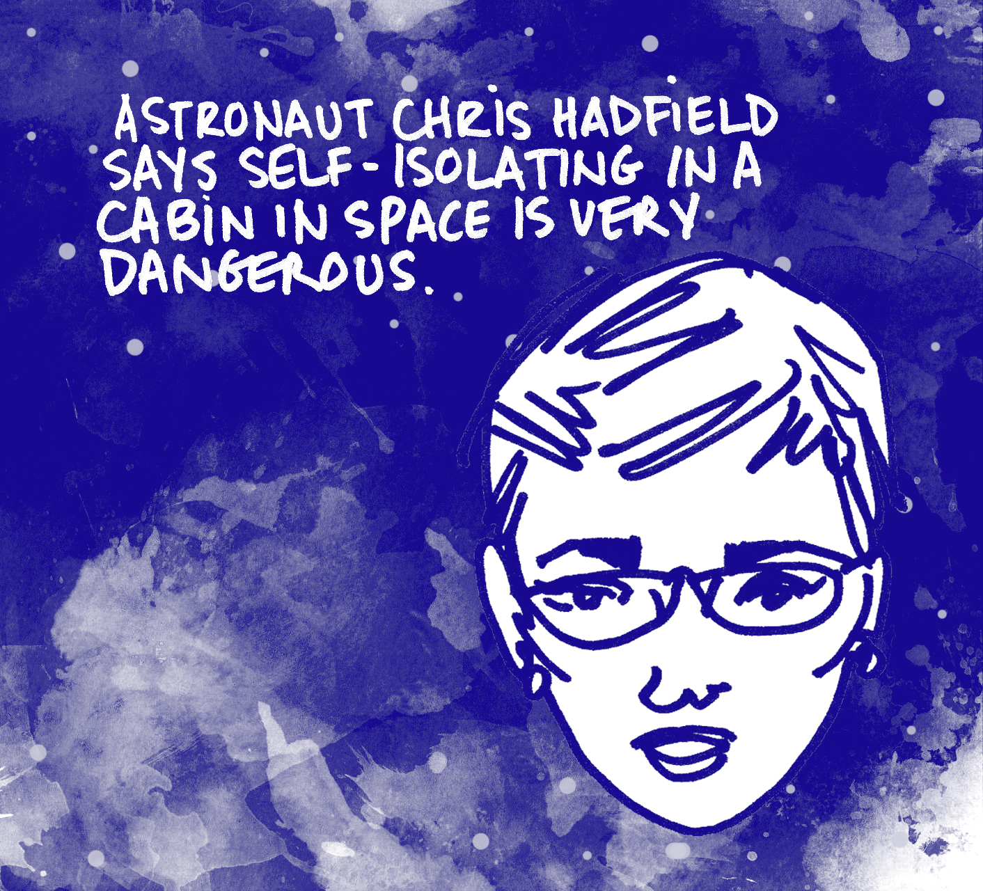 Comic by Alison Garwood-Jones inspired by Chris Hadfield