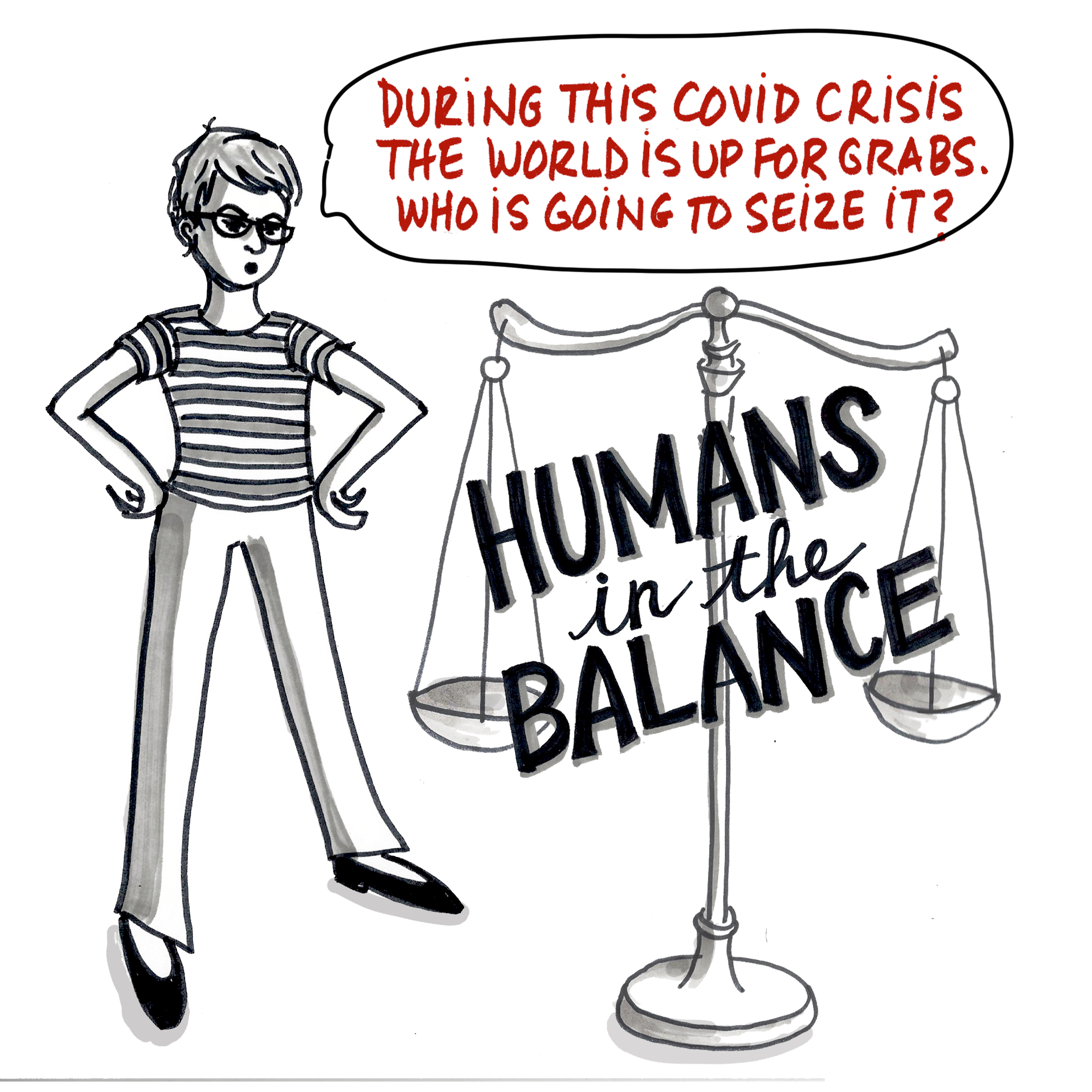 Where is humanity going during Covid-19? A Comic by Alison Garwood-Jones