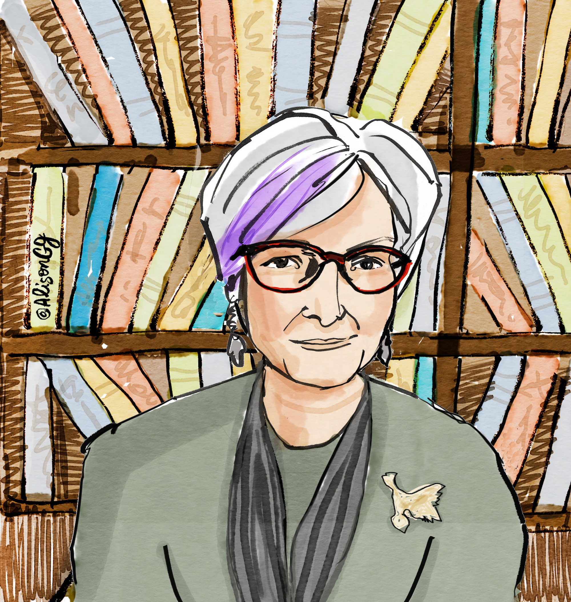 Portrait of biologist Dr. Dawn Bazley by Alison Garwood-Jones