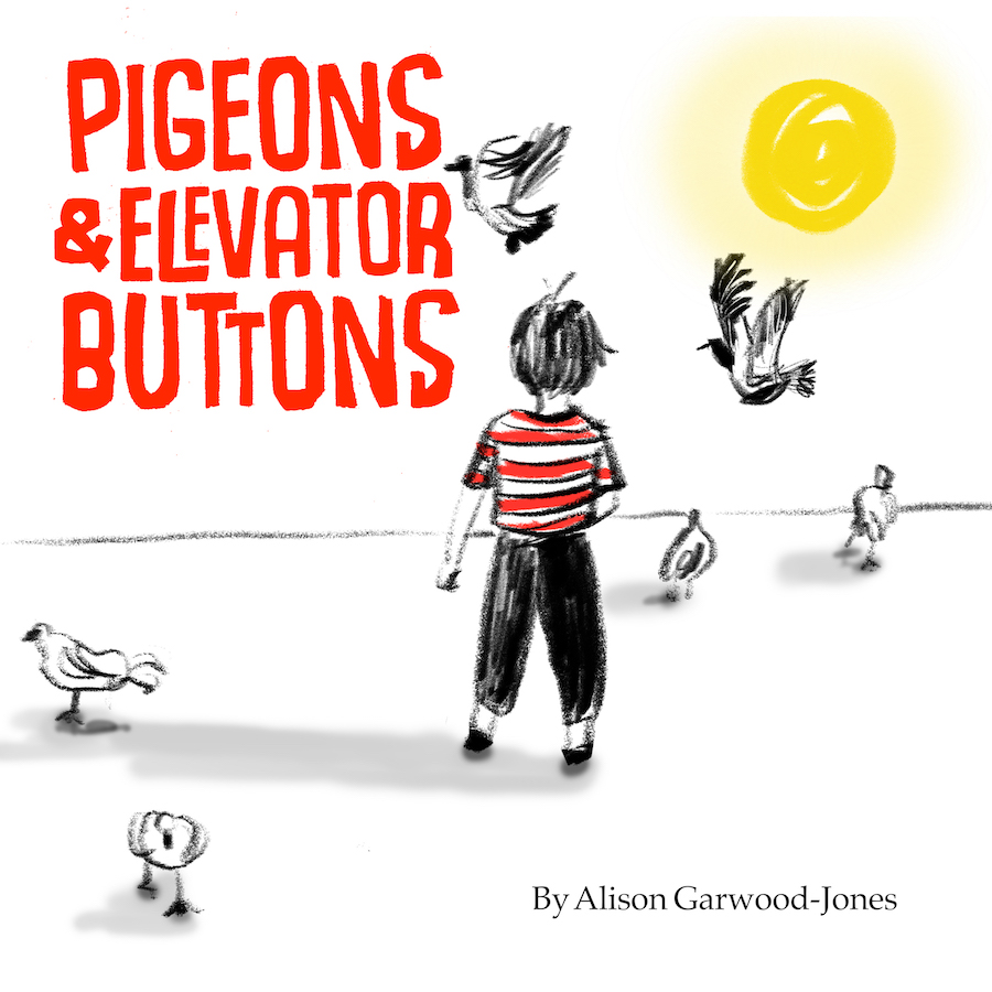 Pigeons & Elevator Buttons, a children's book by Alison Garwood-Jones